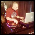 DJ Revolution spinning on B-Real custom Technics 1200s