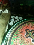 DJ Neko Custom Jagermeister Technics 1200 turntables