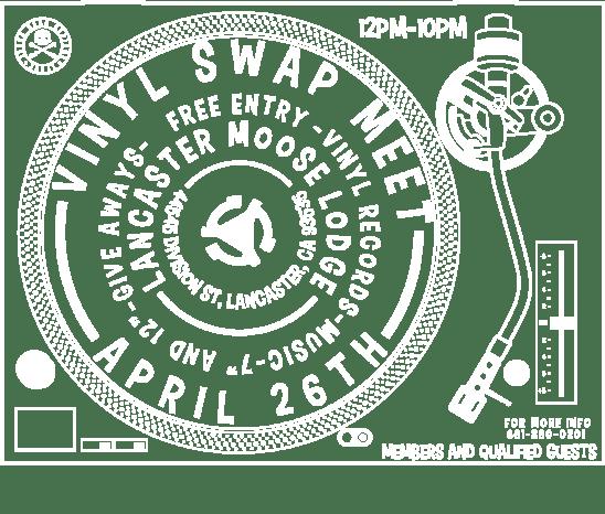 VINYL SWAP MEET APRIL 26TH, 2014